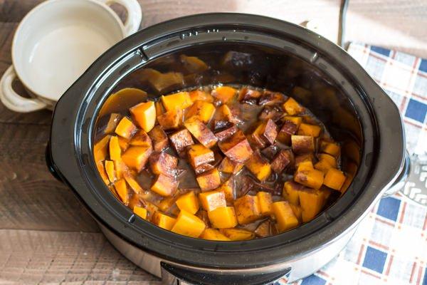 Cinnamon Sugar Butternut Squash Slow Cooker fall crock pot Recipe