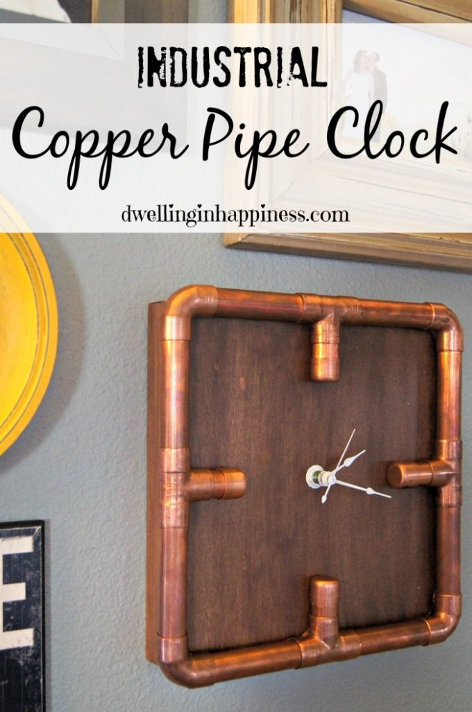 Industrial Copper Metal Clock DIY
