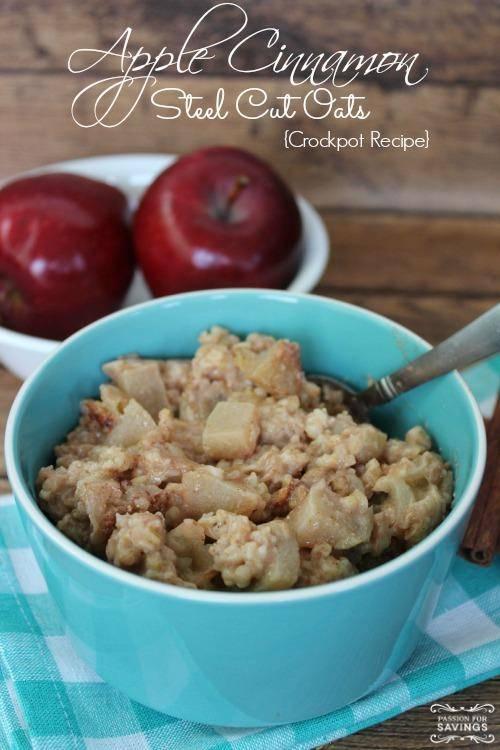 Fall Crock Pot Recipe - Apple Cinnamon Oats