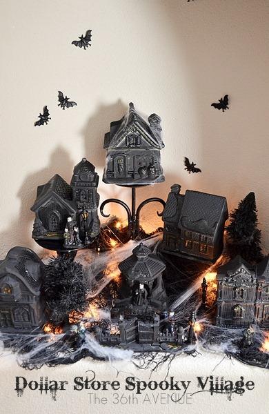 DIY Dollar Store Spooky Village