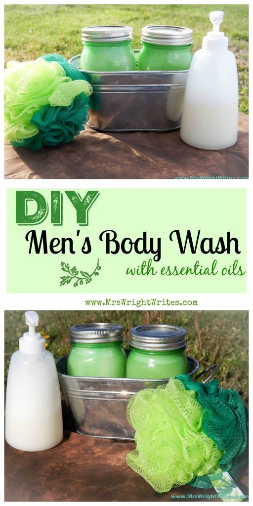 DIY Men's Body Wash With Essential Oils DIY Gift