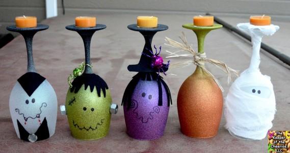 DIY Halloween Wine Glasses
