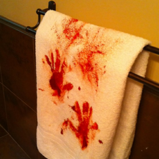 DIY Bloody Hand Towel