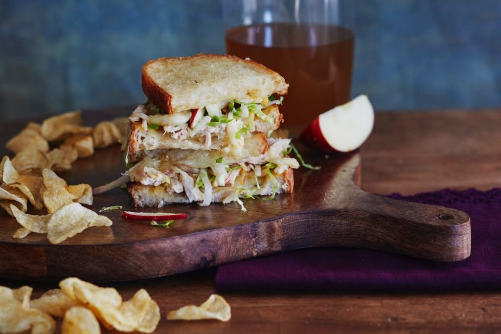 Apple Cheddar Chicken Melt