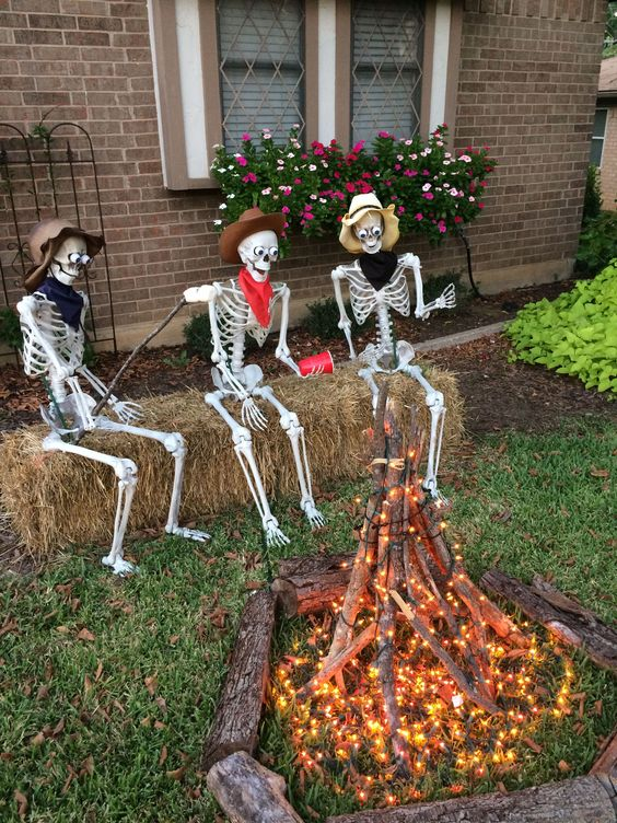 Skeletons Around the Camp Fire DIY