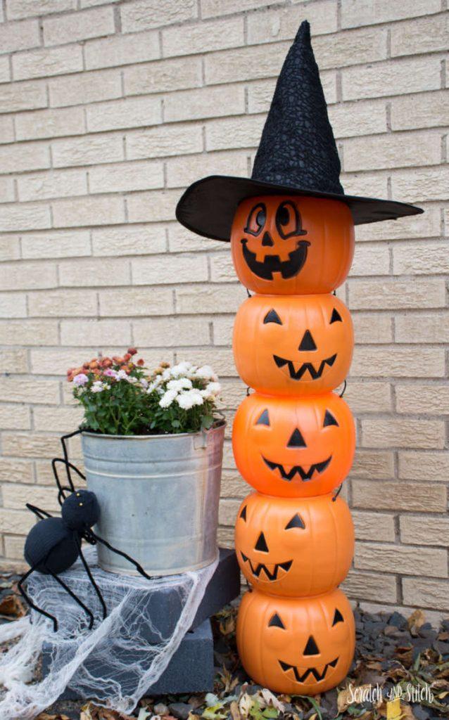 Dollar Store Halloween Decor | Jack-O-Lantern