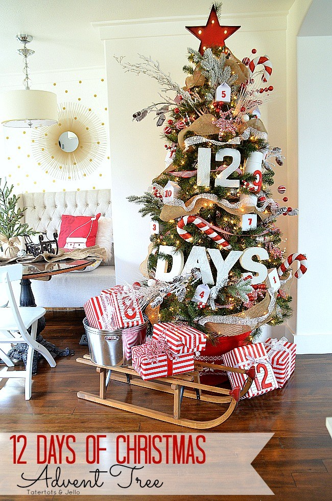 12 Days of Christmas Tree Decoration