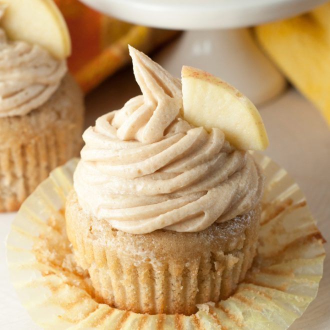 Apple Cider Cupcakes and Brown Sugar Cinnamon Buttercream Frosting Recipe