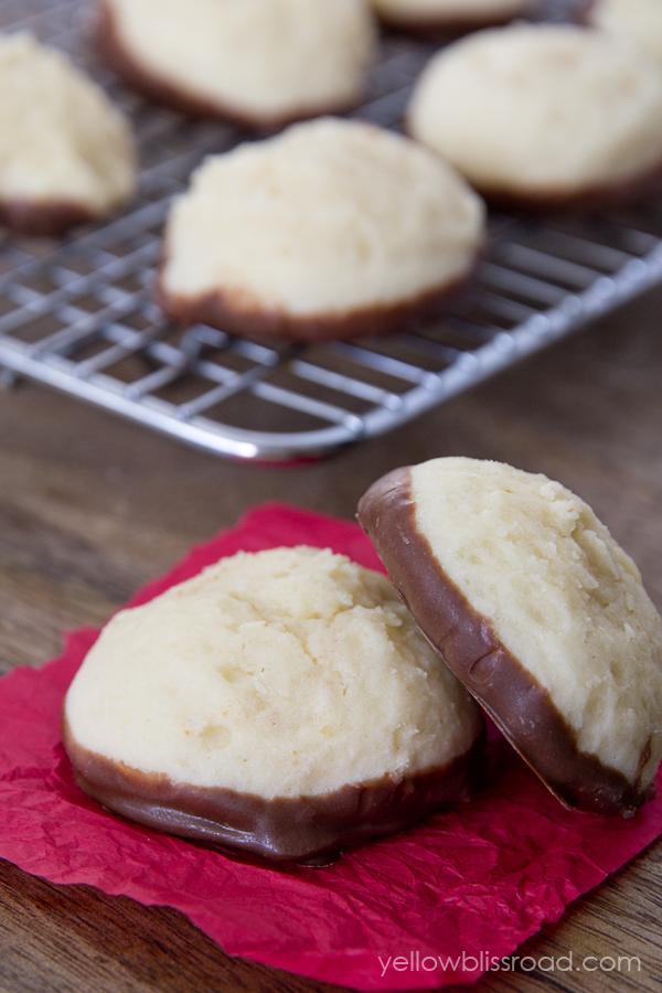 Chocolate Dipped Cheesecake Cookies
