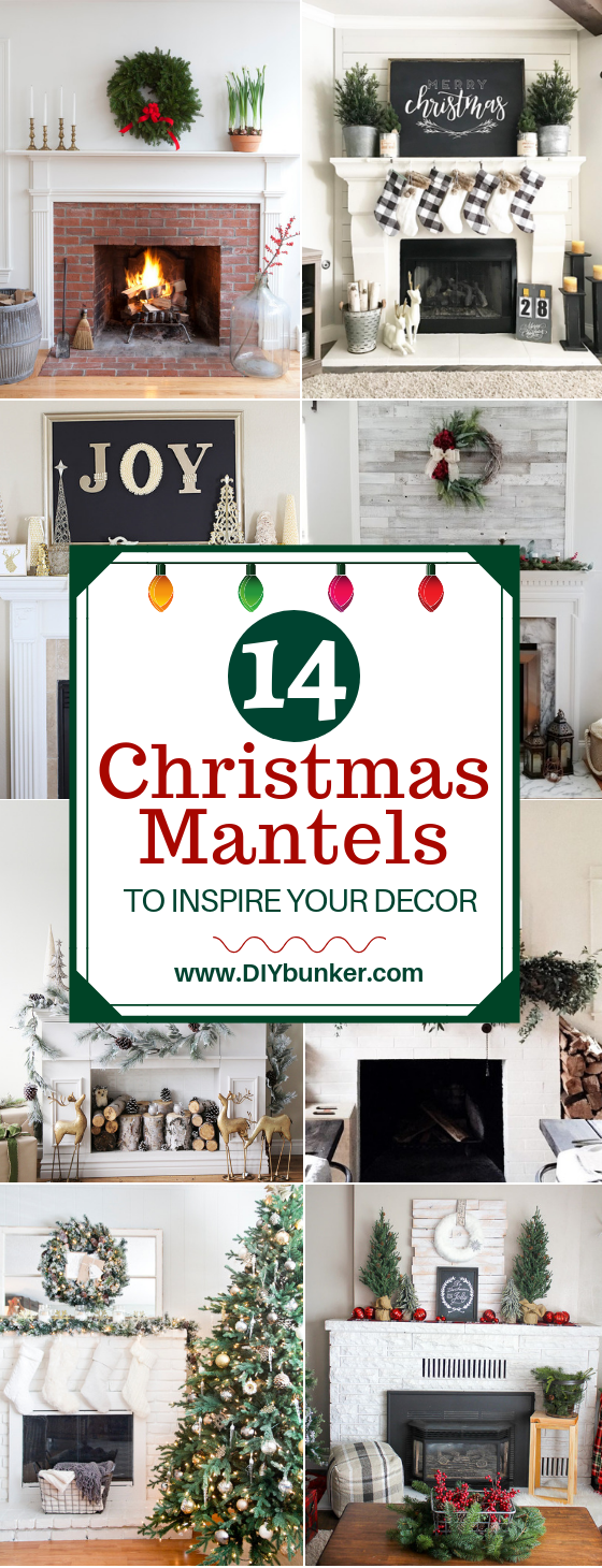 14 Christmas Mantel Decor Ideas