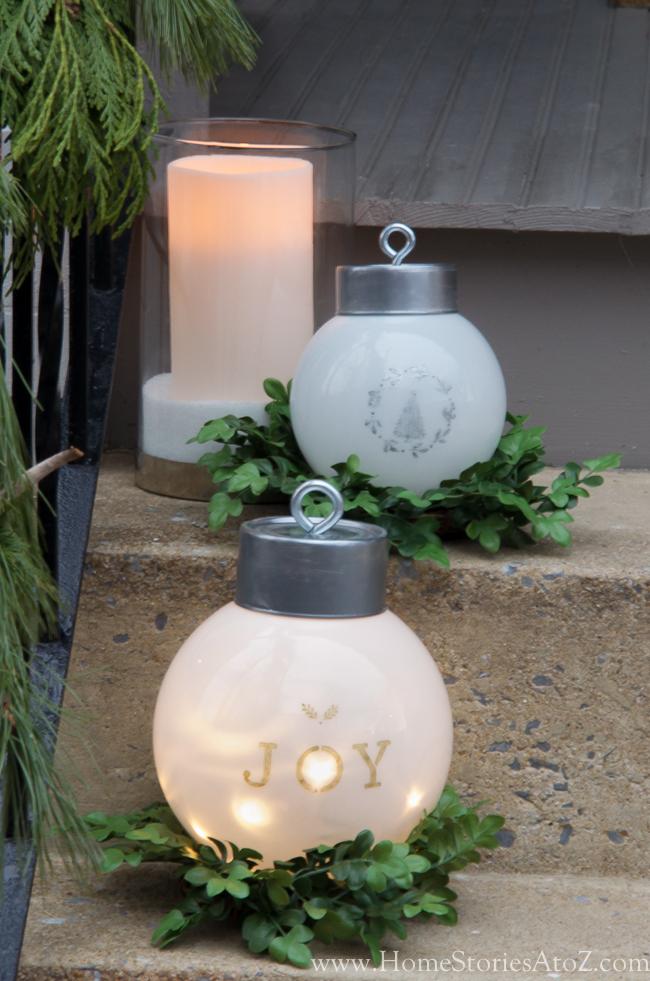 DIY Oversize Ornaments