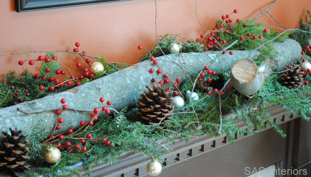 Farmhouse Christmas Mantel Decoration