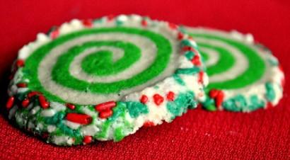 Colorful Slice and Bake Swirl Christmas Cookies