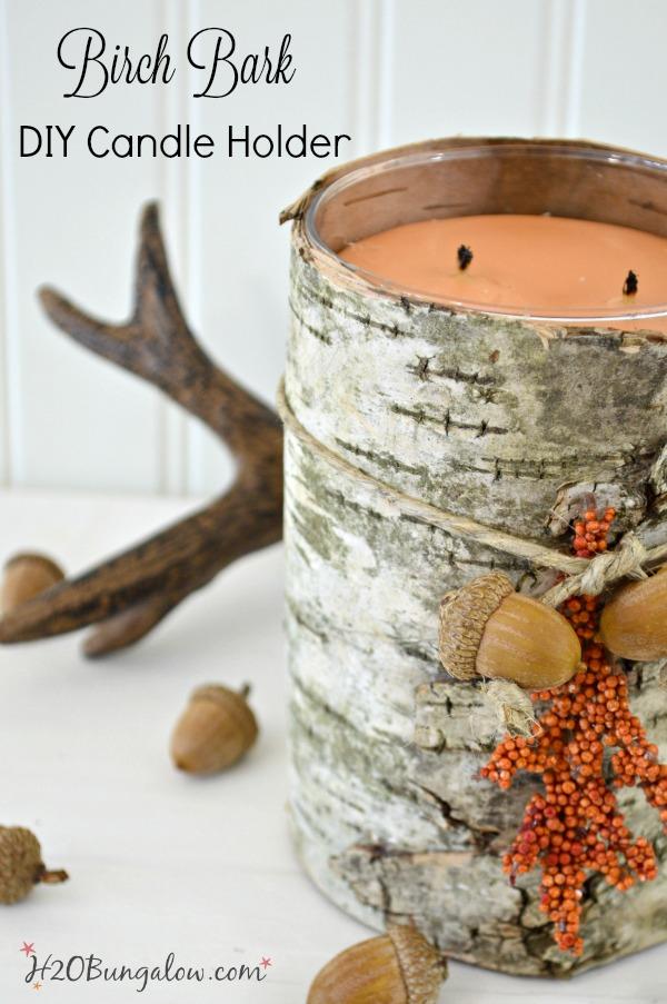 DIY Birch Candle Holder