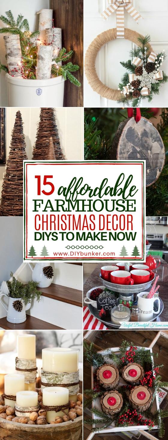 15 Easy Farmhouse Christmas Decorations to DIY