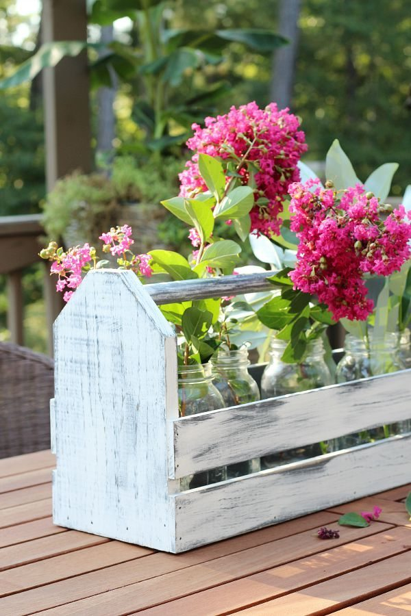 Farmhouse Toolbox Centerpiece