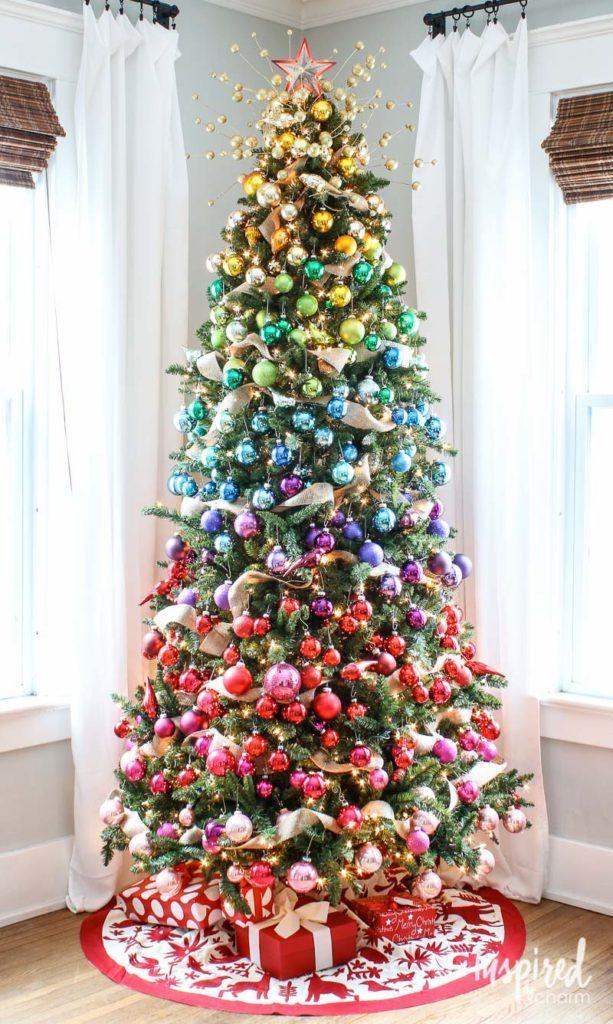 Gradient Rainbow Christmas Tree Decoration