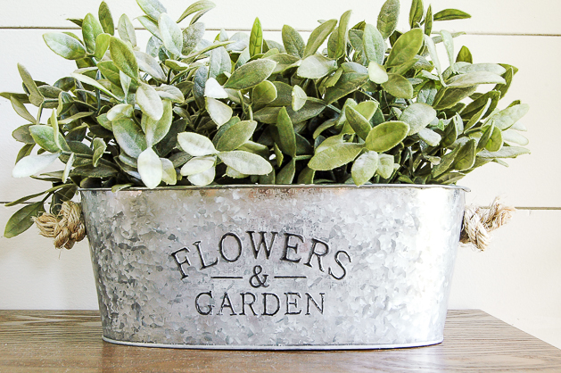 Galvanized Metal Planter DIY