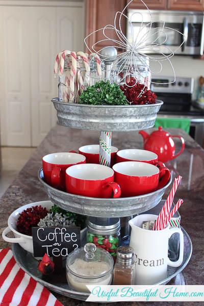 Farmhouse Christmas Coffee and Tea Station