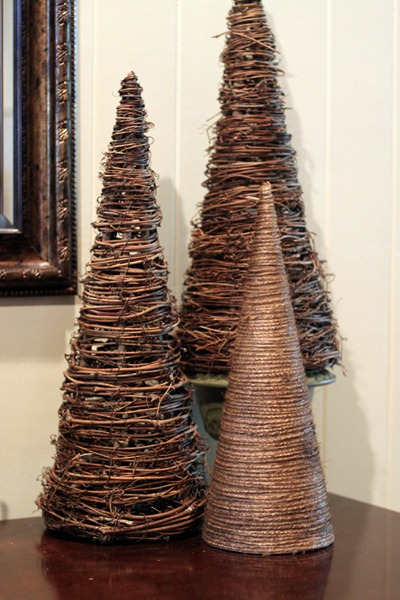 Cone Topiary Trees for the Holidays