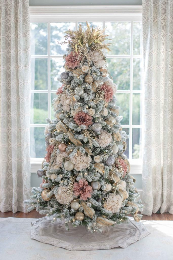 Blush Pink and Gold Christmas Tree Decor
