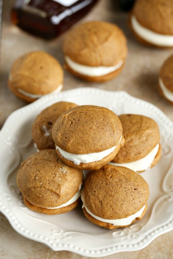 Pumpkin Whoopie Pies for Thanksgiving Dessert