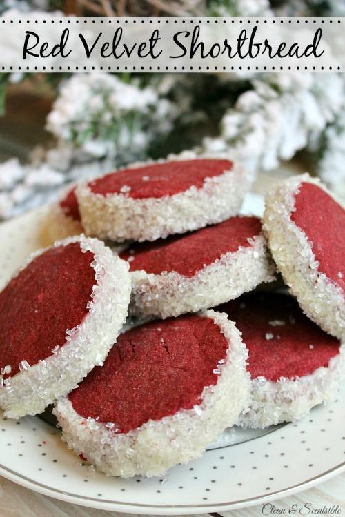 Red Velvet Shortbread Christmas Cookie Recipe