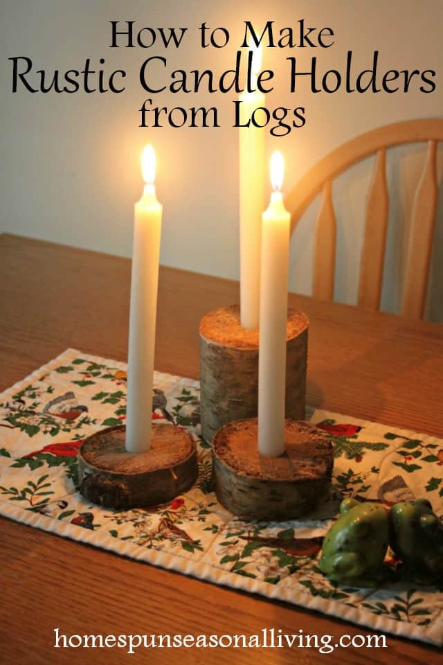 Rustic Candle Holder DIY