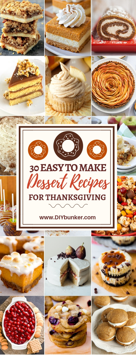 30 Thanksgiving Desserts