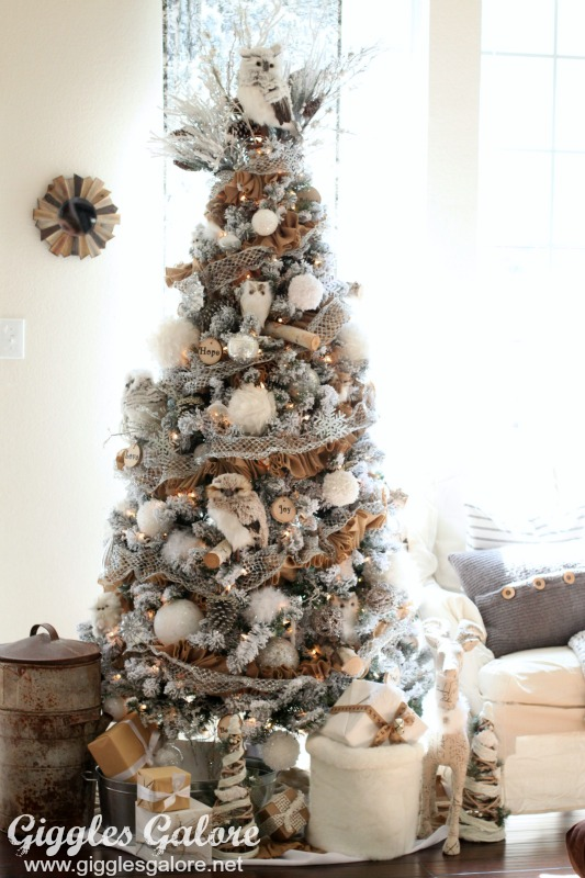Winter Woodland Rustic Neutral Christmas Tree