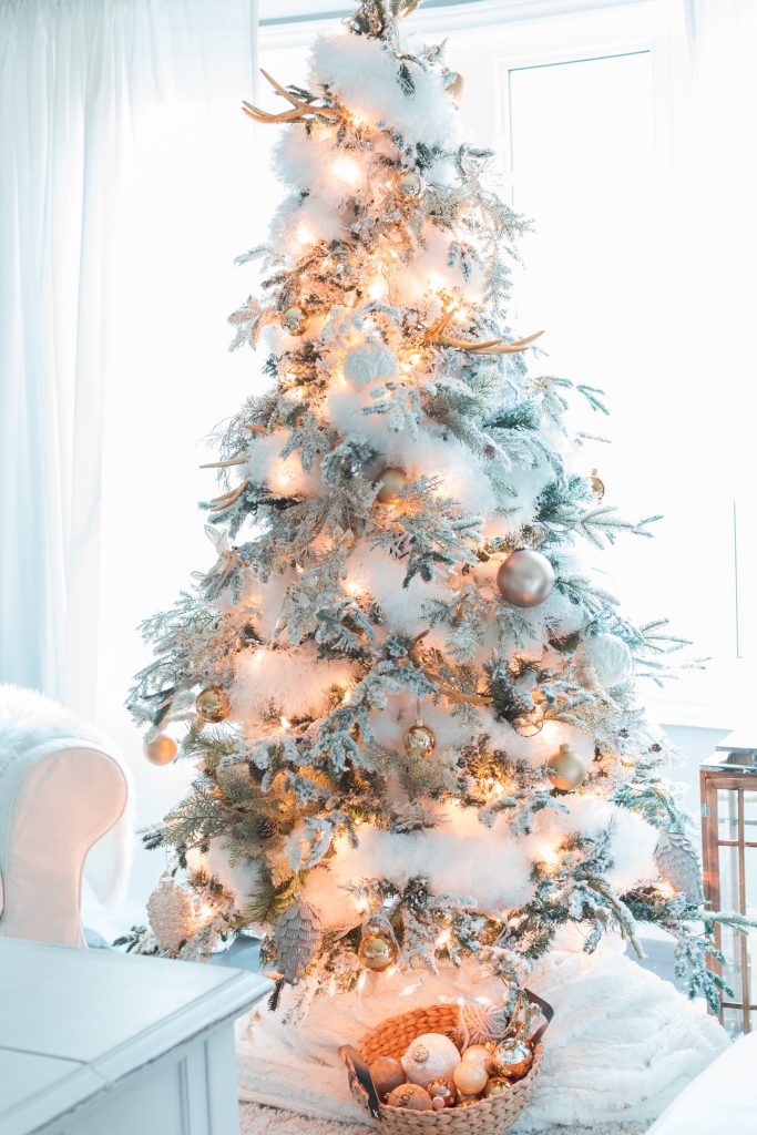Snowy White Christmas Tree Decor