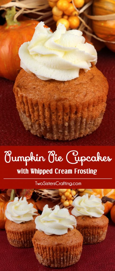 Pumpkin Pie Cupcakes With Whipped Cream Frosting