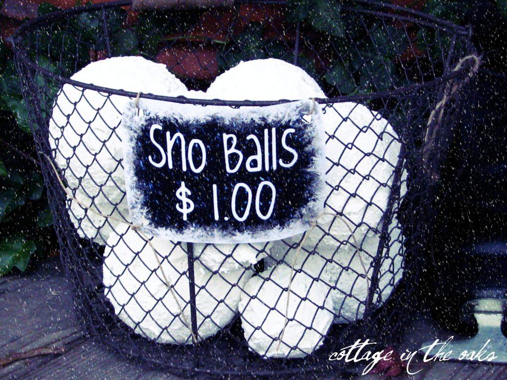 DIY Snow Balls