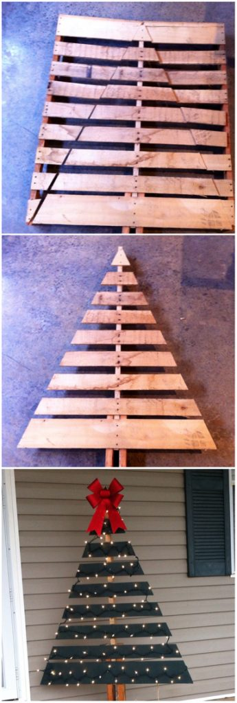 Outdoor Wood Pallet Christmas Tree