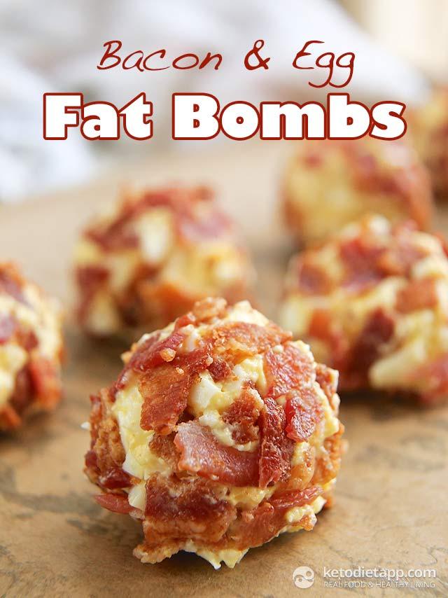 Bacon Egg Fat Bombs