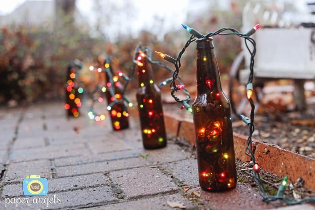 Bottle With Christmas Lights