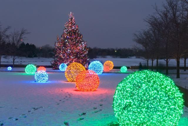 How to Make Christmas Light Balls