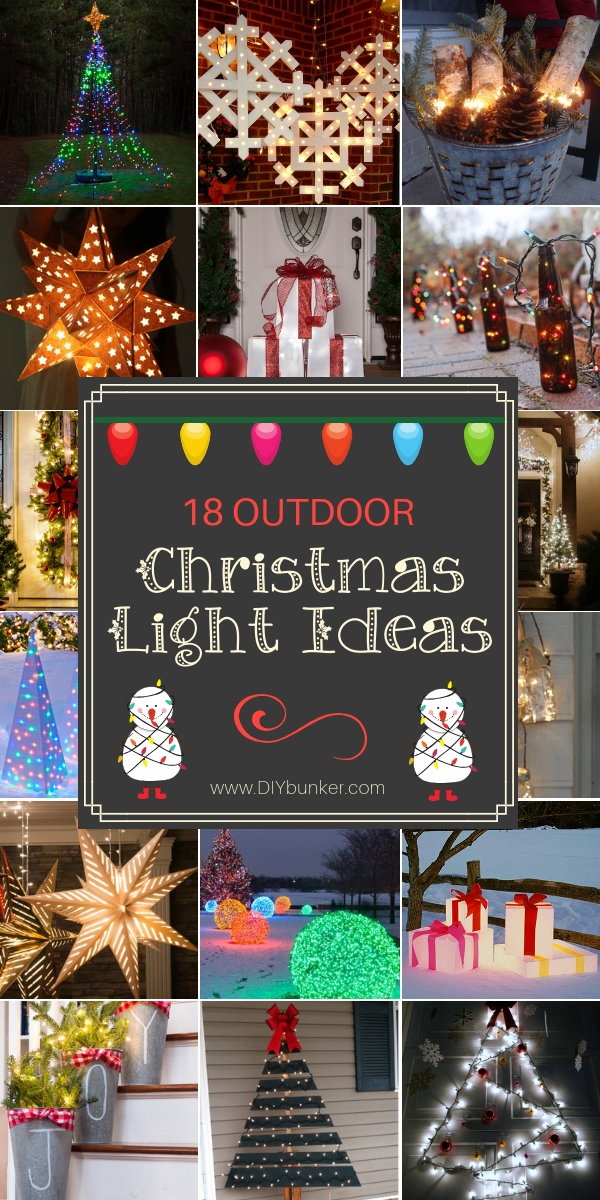 18 Outdoor Christmas Light Ideas