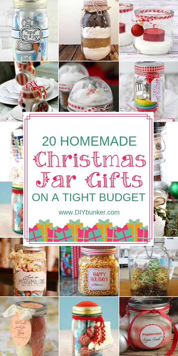 20 Christmas Mason Jar Gifts
