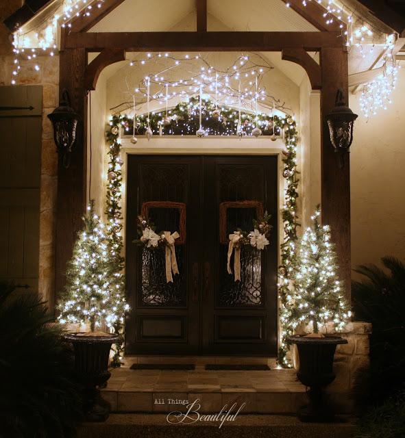 Christmas Porch Lights