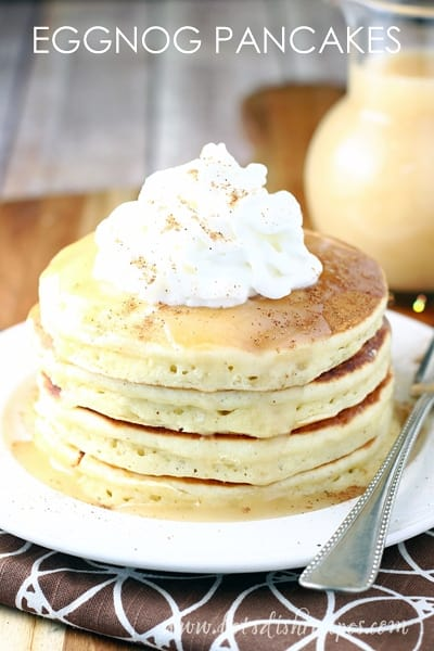 Eggnog Pancakes With Vanilla Syrup