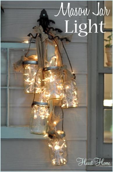 Christmas Mason Jar Outdoor Lights
