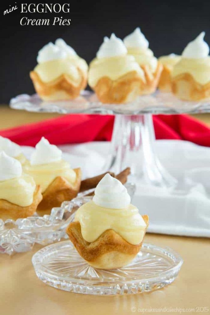 Mini Eggnog Cream Pies