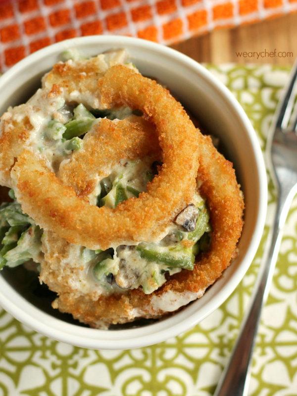 Green Been Casserole Onion Ring