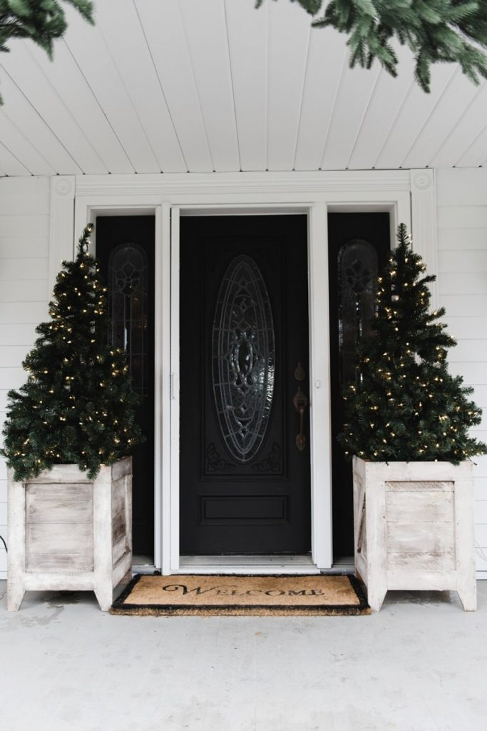 Christmas Tree Planters Farmhouse Style