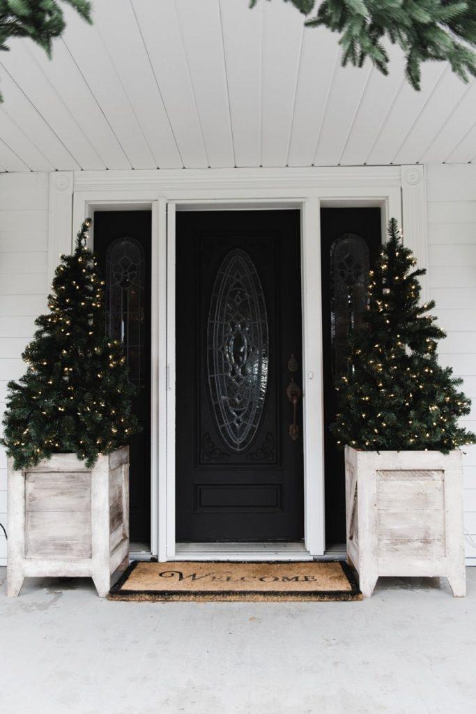 Christmas Tree Planters Farmhouse Style