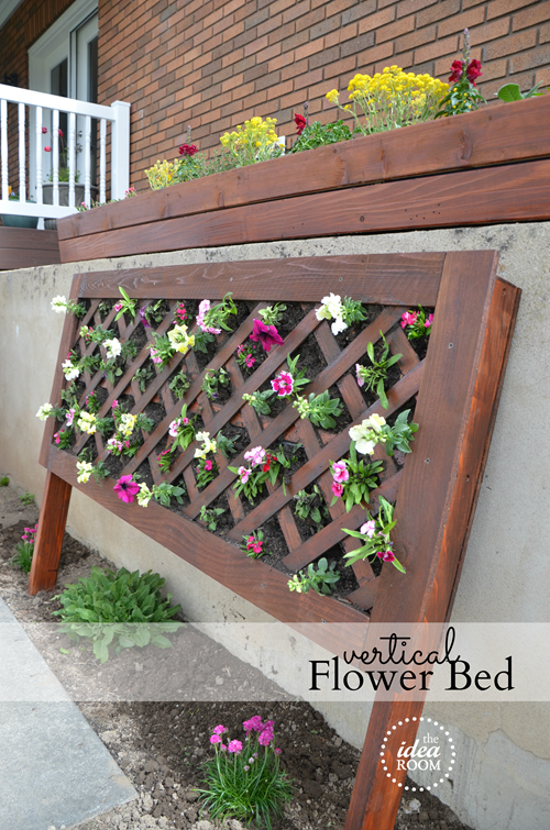 DIY Vertical Garden Flower Bed