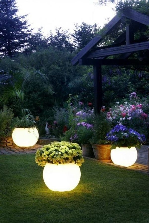 Flower Bed Vases With Light