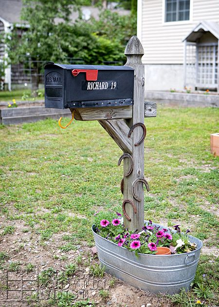 Mail Box Flower Bed Idea