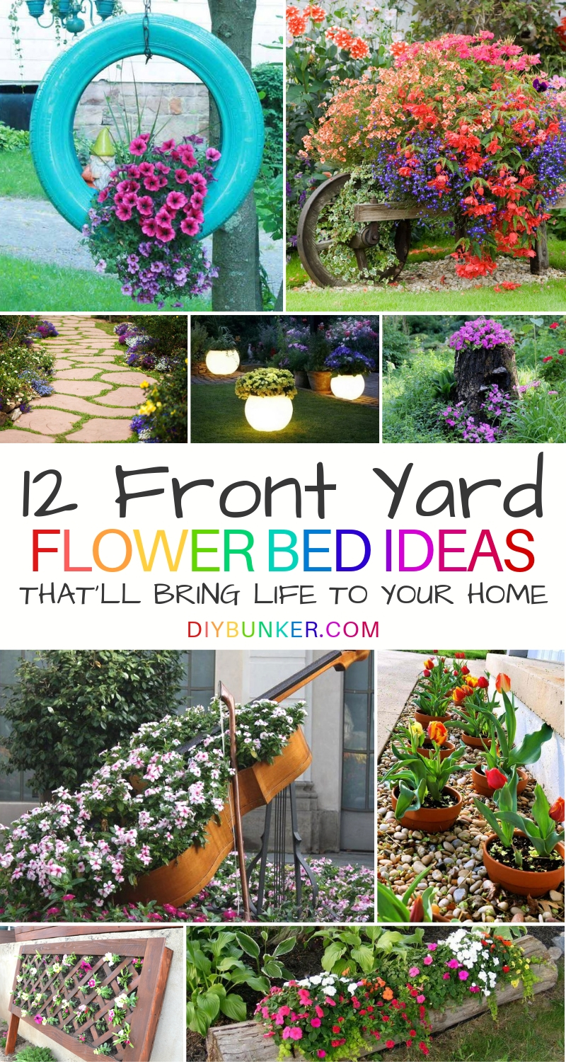 12 Flower Bed Ideas in Front of House